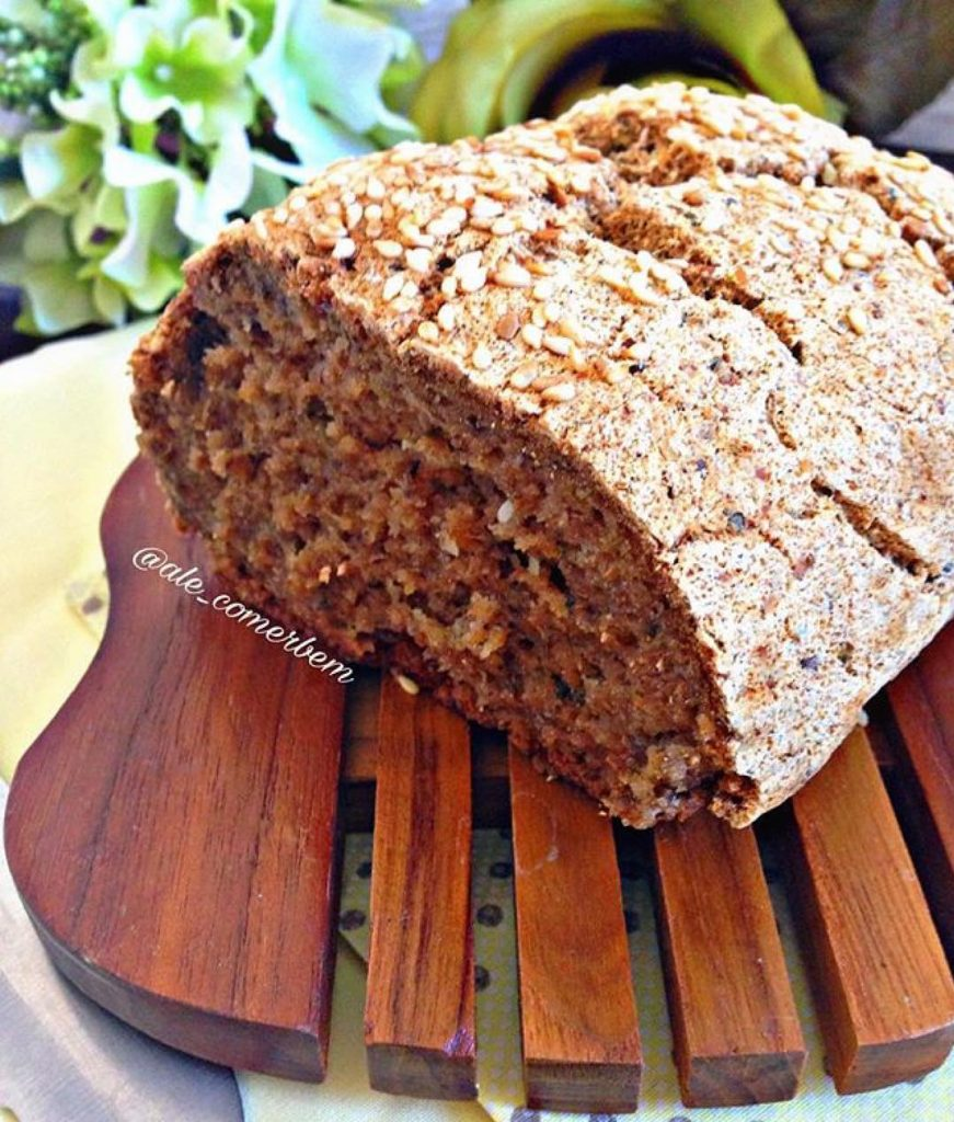 pão vegano e sem glúten feito com farinha zaya