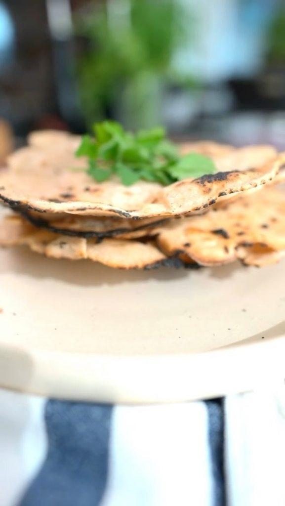 Pão indiano sem glúten - Pão Ázimo - Mari Rezende / Do Pão ao Caviar