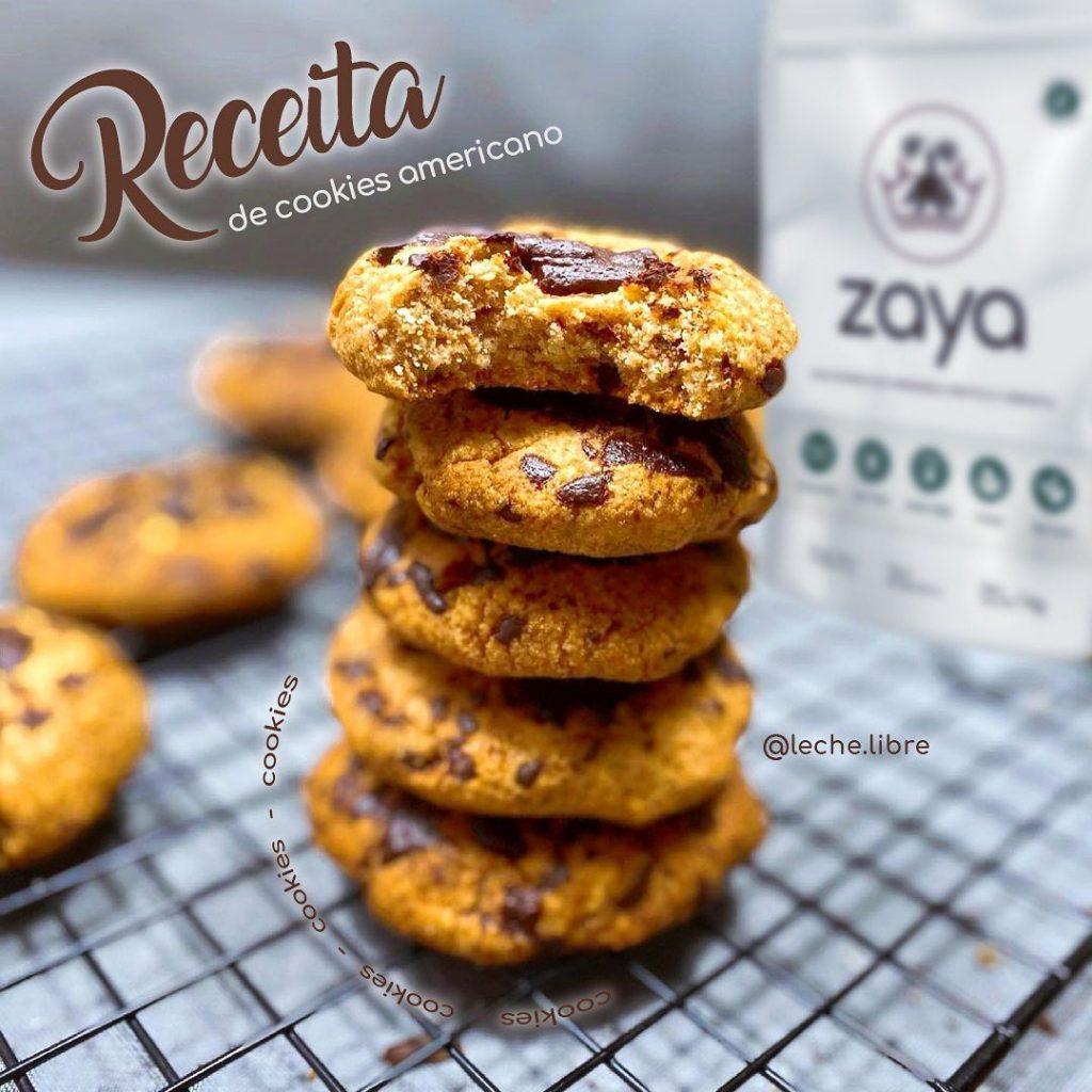 Cookies Americanos sem Glúten - Leche Libre